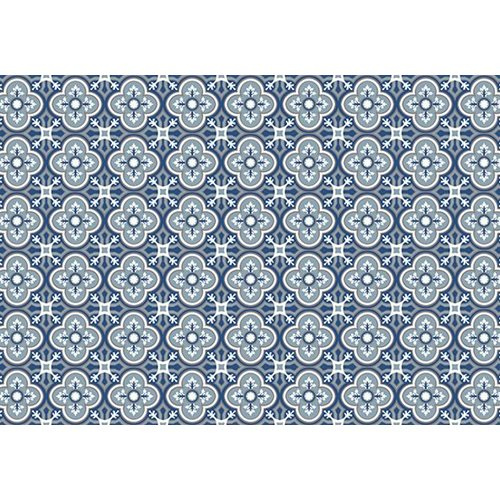 Exclusive Edition Carpet Pattern Flower-Cross – Graphics Blue-Grey