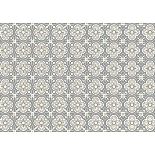 Exclusive Edition Carpet Pattern Flower-Cross – Graphics - Grey-Taupe