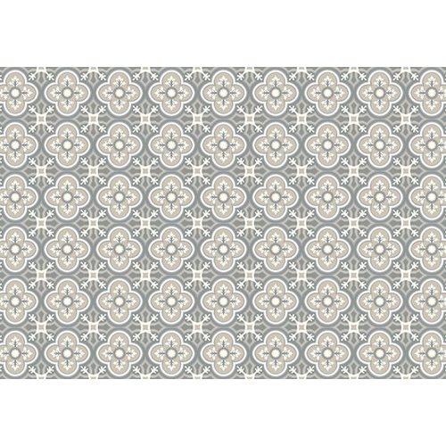 Exclusive Edition Teppich Muster - Blume-Kreuz - Grafik - Grau-Taupe