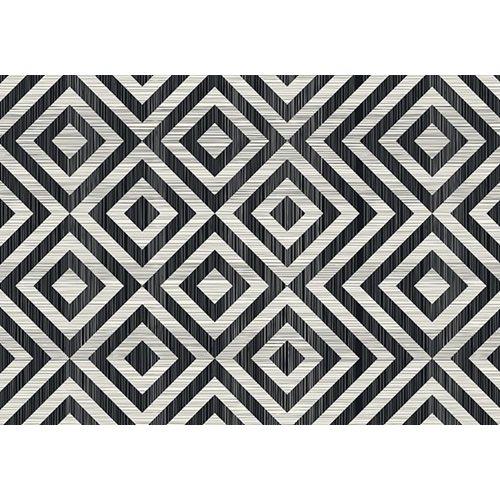 Exclusive Edition Teppich Muster Rhombus - Grafik - Schwarz-Grau
