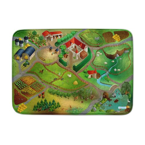ACHOKA Play mat Farm - Ultra Soft Connect
