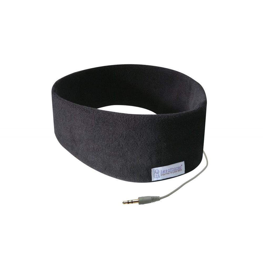 SleepPhones® Classic Fleece Midnight Black - Medium