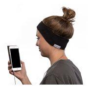 SleepPhones® Classic Fleece Schwartz - Medium