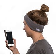 SleepPhones® Classic Fleece Grau - Small/Extra Small