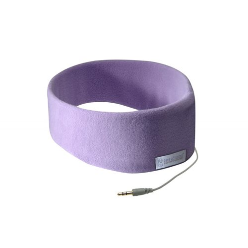 SleepPhones® Classic Fleece Quiet Lavender - Large/Extra Large