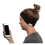 SleepPhones® Draadloos Fleece Zwart - Small/Extra Small