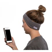 SleepPhones® Wireless Fleece Soft Gray - Small/Extra Small