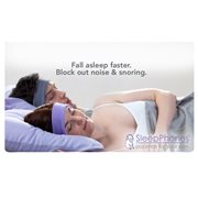 SleepPhones® Wireless Fleece Lavendel - Large/Extra Large