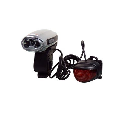 PowerPlus Swallow - Dynamo LED Fiets Verlichting Zaklamp en Lader