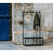 Spinder Design Diva Staande Kapstok 100x180 - Blacksmith/Zwarte plank