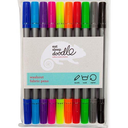 EatSleepDoodle Uitwasbare Kleur Stiften – Set van 10
