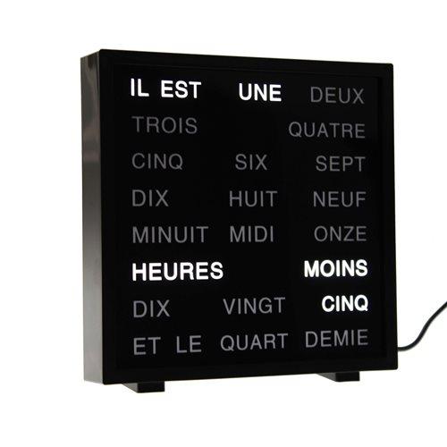 United Entertainment LED Buchstabenuhr - Französisch 17x16.5 cm