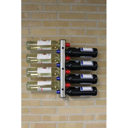 United Entertainment Edelstahl Wandflaschenhalter - 8 Flaschen