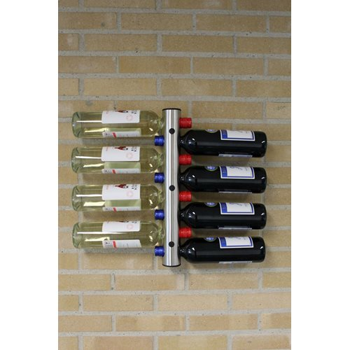 United Entertainment Stainless Steel Bottle Rack Wall Mounted - 8 Bottles