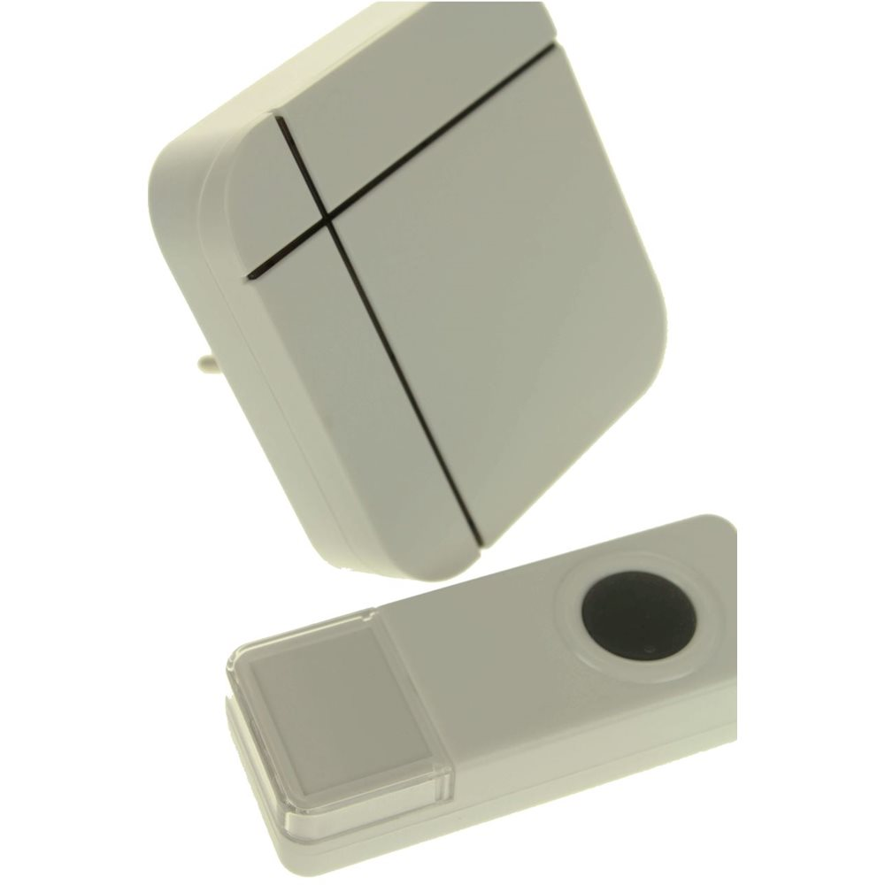 United Entertainment Wireless Waterproof Doorbell Set - White