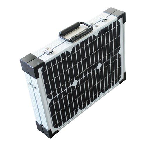 PowerPlus Python - Faltbare Solar-Ladegerät 2x20W mit Aufbewahrungskoffer