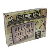 Lichtbox LED Verlichting met 84 letters