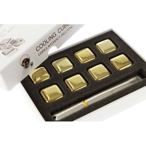 United Entertainment Whisky-Steine Edelstahl Goldfarbe - Set von 8 Stück