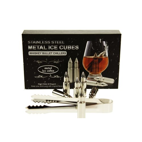 United Entertainment Whisky Stones Bullets - Set van 6