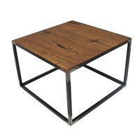 Spinder Design John Bijzettafel 60x60x40 - Blacksmith/Eiken