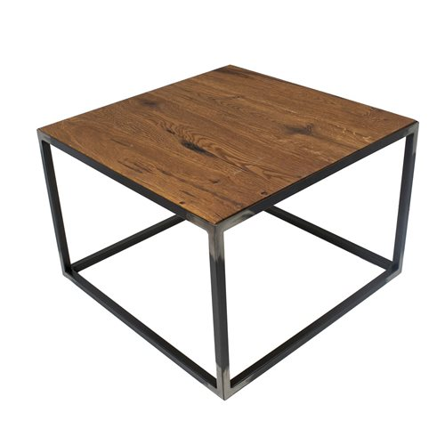 Spinder Design John Side Table 60x60x40 - Blacksmith/Oak