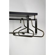 Spinder Design Rex 3 Coat rack with Shelf - Blacksmith