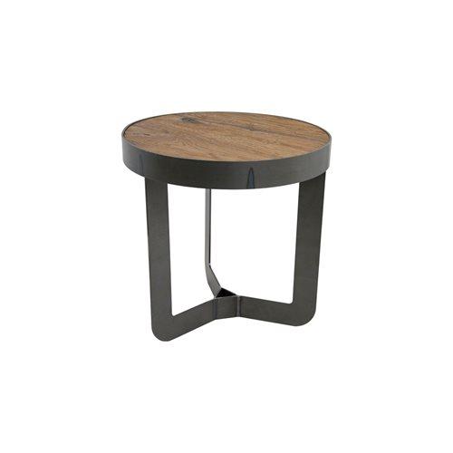 Spinder Design Douglas 1 Bijzettafel ø 46x50 - Blacksmith/Eiken