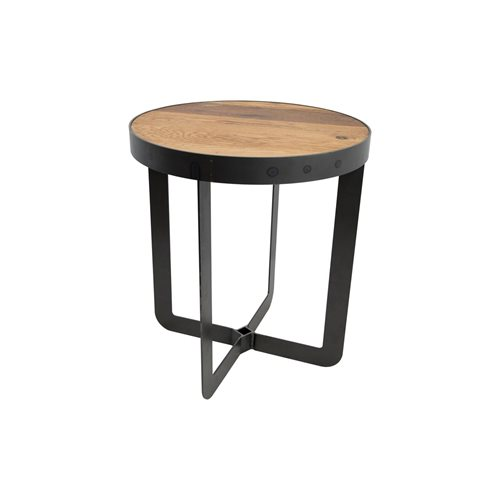 Spinder Design Douglas 4 Side Table ø 51x57 - Blacksmith/Oak