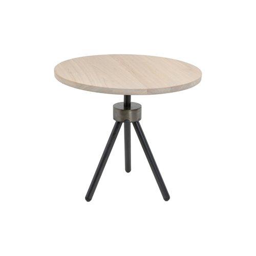 Spinder Design Anna Bijzettafel ø 50 - Blacksmith/Eiken