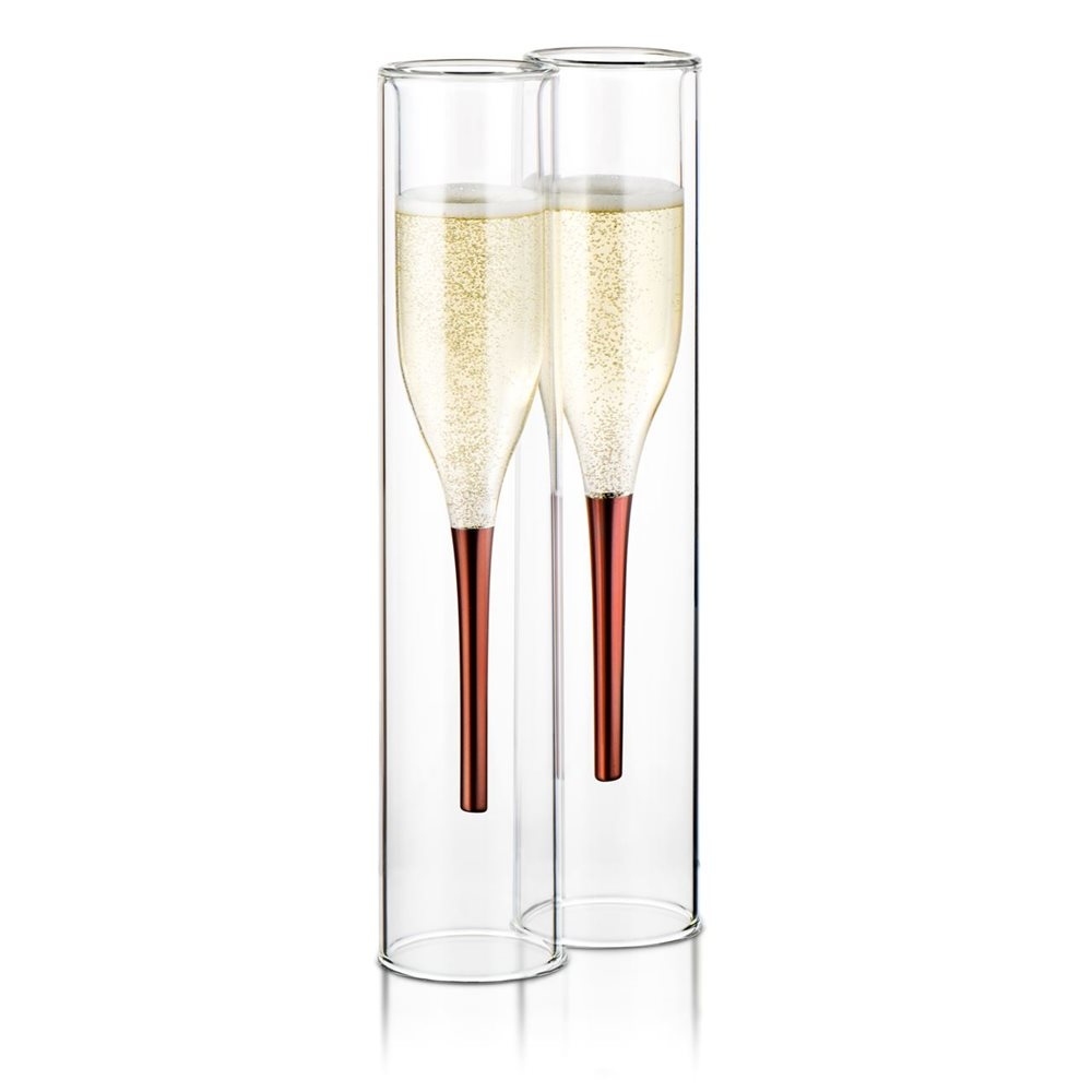 ThumbsUp! Inside Out Champagne Flutes