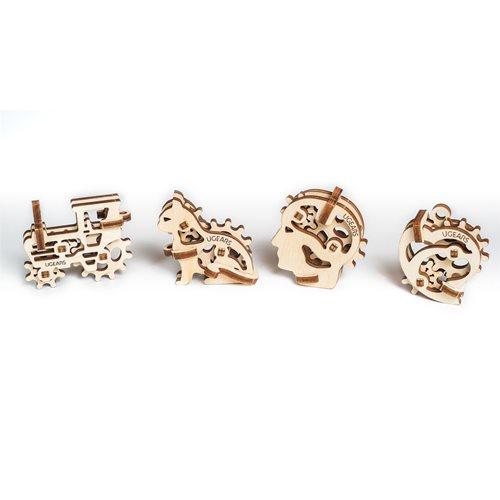 Ugears Wooden U-Fidget Key Chains - Tribka Trinkets