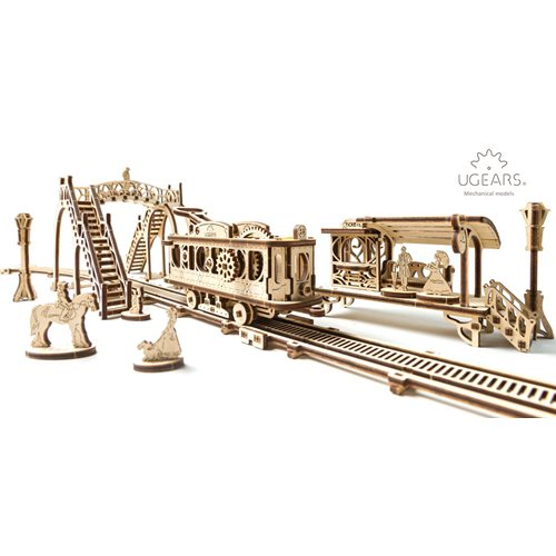 Ugears Wooden Model Kit - Tram Line