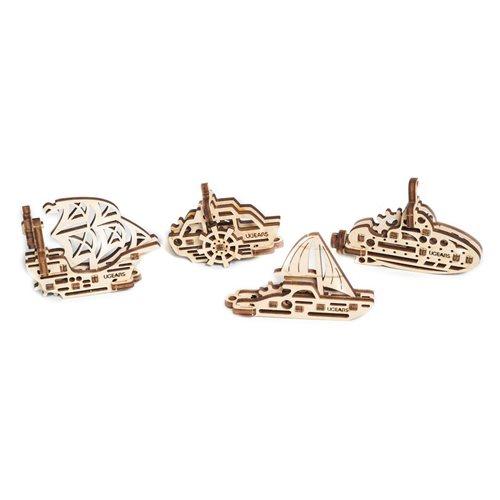 Ugears Wooden U-Fidget Key Chains - 4 Ships