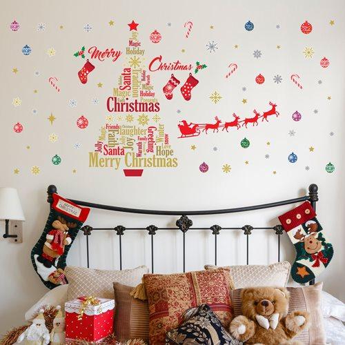 Walplus Home Decoration Sticker - English Quotes Christmas Decoration Set