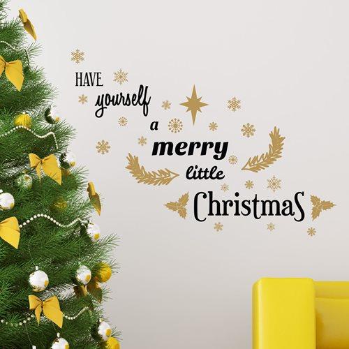 Walplus Home Decoration Sticker - Merry Little Christmas