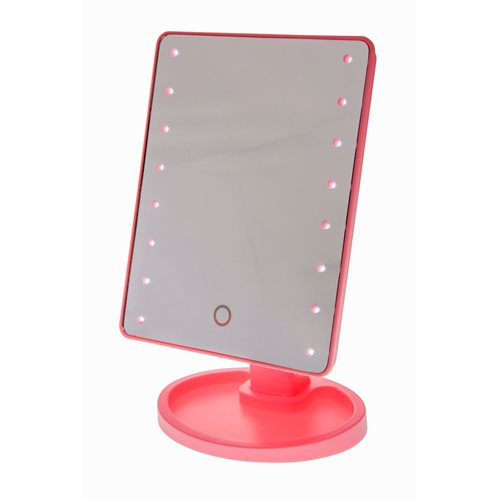United Entertainment Touch Screen LED Light Make-Up Mirror - Pink