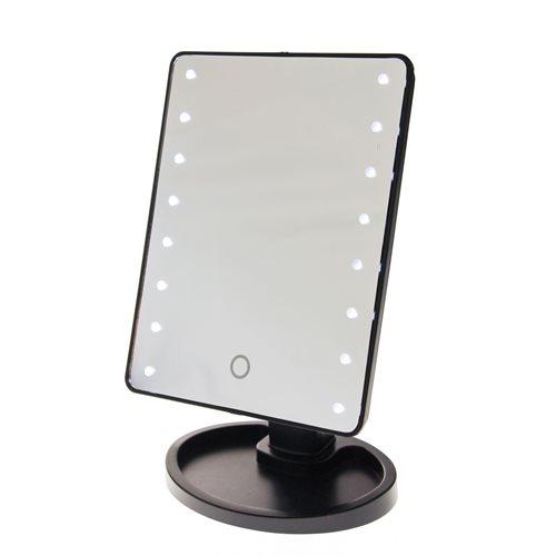 United Entertainment Touch Screen Make-Up Spiegel mit LED-leuchten - Schwarz