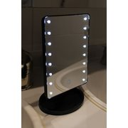 United Entertainment Touch Screen LED Light Make-Up Mirror - Black