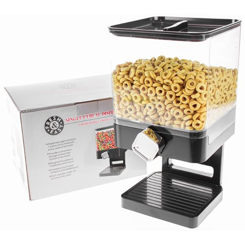 United Entertainment Luxury Single Cornflakes Dispenser - Black
