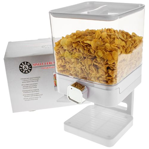 United Entertainment Luxury Single Cornflakes Dispenser - Weiß