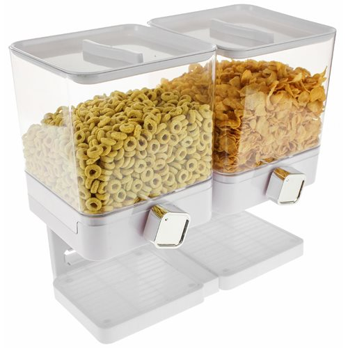 United Entertainment Luxury Double Cornflakes Dispenser - White