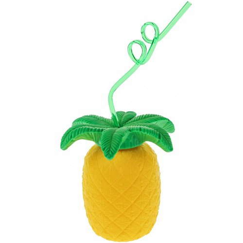 United Entertainment Pineapple Cup with Straw