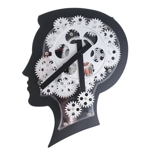 United Entertainment Brain Design Wall Clock with Moving Gears