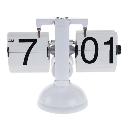 United Entertainment Retro Flip Down Desk Clock with LED light