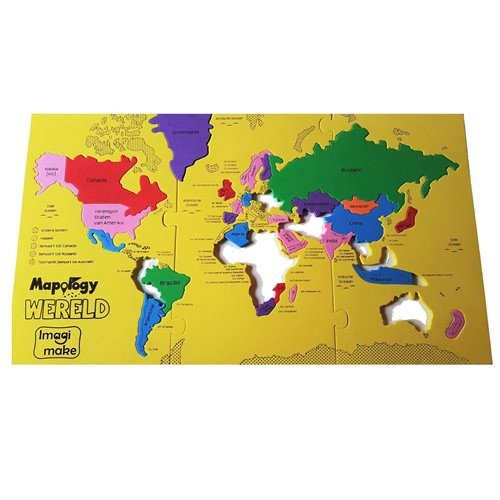 Imagimake - Foam Puzzle - Largest Countries of the World (NL)