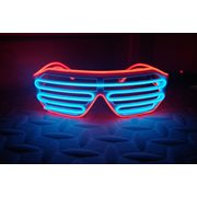 IA Blauw en Rood LED Light Up Bril