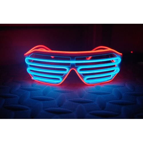 IA Blue and Red LED Light Up Glasses