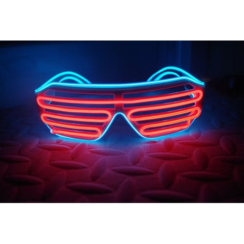 IA Red and Blue LED Light Up Glasses