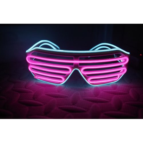 IA Pink and Aqua LED Light Up Glasses