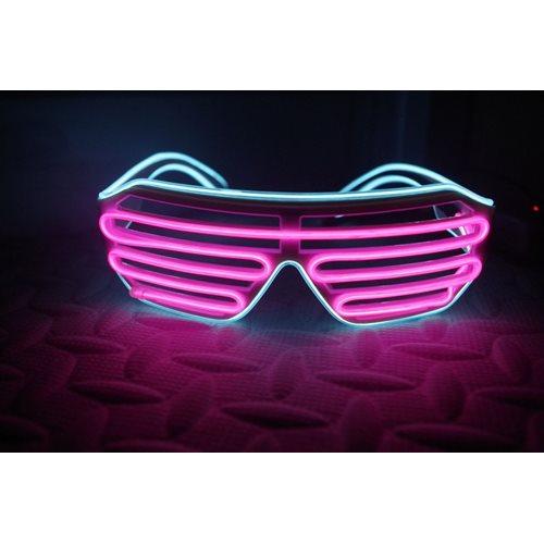 IA Pink und Aqua LED leuchten Gläser